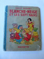 BLANCHE NEIGE ET LES SEPT NAINS avec jaquette HACHETTE 1948 silly symphonie