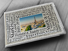 "Personalised photo album, memory book, 6x4"" photos, Paris France holiday gift"