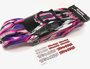 RUSTLER 4x4 BODY Shell (Pink purple Cover Shell decals Traxxas VXL 67076-4