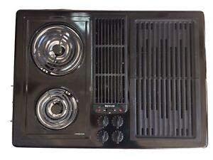 """Jenn Air 30"""" Electric Downdraft Cooktop JED8230ADB  W/ Grill kit"""