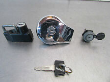 G  YAMAHA VIRAGO XV 750 1991 OEM  IGNITION SWICHT LOCK & GAS CAP & 1 KEY