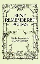Best Remembered Poems Martin Gardner Paperback