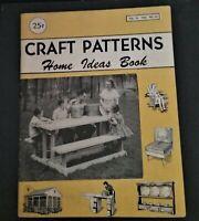 Vintage CRAFT PATTERNS Home Ideas Book, Vol. 16, 1956, No. 23 Catalog.