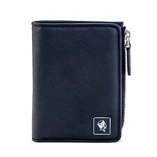Blue Vertical Leather Wallet With Coin Pocket 11344-00679 PORTER INTERNATIONAL