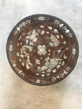 Antique Vietnamese Lacquer Box With Raden Works