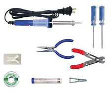 Electronic Technician Soldering Iron Tool Kit 9pc Elenco TK-14