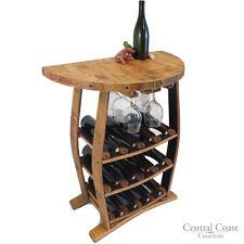 12 Bottle 6 Glass Wine Barrel Stave Wine Rack Holder Rustic Furniture Handmade