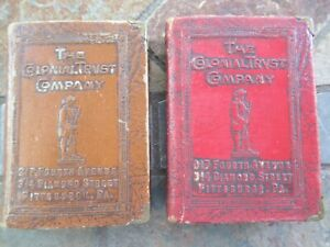 """Vintage """"The Colonial Trust Company""""  Book Banks"""