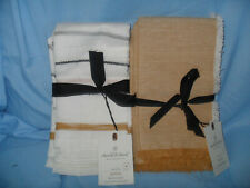 Hearth and Hand Magnolia 4 pc Napkins Linen / cotton 20 x 20 Stripes or Gold