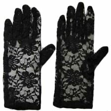 Fancy Dress Silver Sequin White Black Pink Lace Satin Wedding Party Gloves