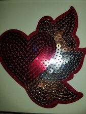 heart sequin embellishment recollection scrapbook sticker
