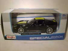 2009 Chevrolet Chevy Corvette Z06 GT1 Die-cast Car 1:24 Maisto 8 inch Black