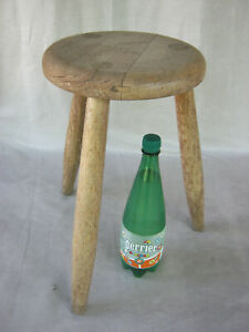 ancien tabouret bois tripode style perriand vintage tripod stool wood