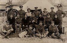 WW1 soldier group ASC Army Service Corps France fraternising with French ladies
