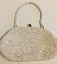 VIVANT By Sarne Vintage Italian Beads Hand Beaded Handbag Clutch Evening Bag