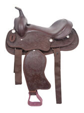 Western Synthetic Barrel Racing Trail Horse Saddles Tack Size 12 to 18 inch
