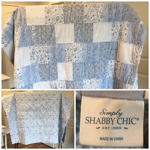 Rachel Ashwell Simply Shabby Chic BluePatchwork TWINQuilt 60 x 86 Reversible