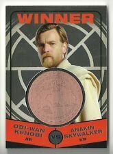 Topps Chrome Star Wars Jedi vs Sith MEDALLION Winner Obi Wan Kenobi /Anakin