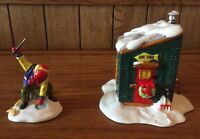 "The Original Snow Village Department 56 ""Fresh Frozen Fish"" Set Of 2 #5163-2"