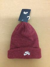 Nike SB FISHERMAN BEANIE Team Red Heather White Skateboarding One Size