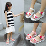 Girls Love Summer Shoes Children Baby Girls Princess Sandals Soft Flat Shoes