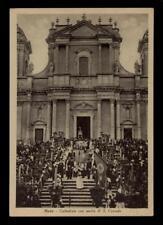cartolina NOTO cattedrale con uscita di s.corrado