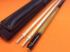 CEULEMANS CAROM CUE HQ 12 2/A WITH 2 SHAFTS & CASE.