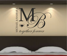 Especially for a couple! Wall Stickers in a bedroom with a personal name+color!!