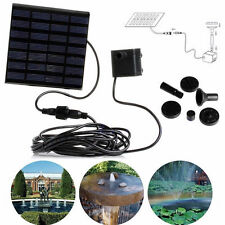 160L/H Pompa Solare Energia per Giardino Fontana/Stagno Irrigazione e Decorati