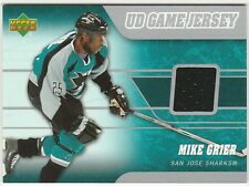 2006-07 Upper Deck Mike Grier #J2-MG Hockey Card UD Game Jersey