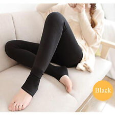 NEW WOMEN WINTER SOFT STRETCHY BLACK STRRUP LEGGINGS WARM 185