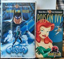 """""""Batman & Mr. Freeze: Subzero"""" & Poison Ivy VHS Lot Of 2 DC"""