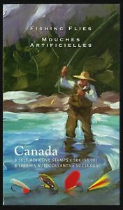Canada BK306: two panes of 4 x 50c, Trout and Salmon Fishing Flies, Scott 2088
