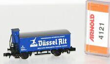 """Arnold N 4121 Gedeckter Güterwagen mit Bremserhaus der DB """"Düssel Alt"""" OVP FF142"""