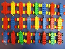 DUPLO lego CAR WHEEL BASE SELECTION X4 random LOT trailor train truck lorries