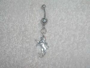 Lion Animal Safari Zoo Charm Belly Button Navel Ring Body Jewelry Piercing 14g
