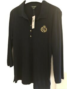ralph lauren polo shirt Ladies M 3/4 Sleeve