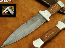 "ALISTAR 9.2"" HANDMADE DAMASCUS STEEL DOUBLE EDGE HUNTING DAGGER KNIFE (4110-11"