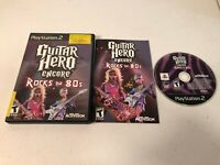 Guitar Hero Encore: Rocks the 80s (Sony PlayStation 2, 2007) - COMPLETE