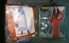 X2 LOT OF Ladies Costume sz Sm Colonial Pioneer Woman and Gothic vampire Adult