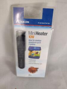 NEW SEALED Aqueon Mini Fish Tank Heater 10 Watts Black Thermal Safety Shut Off