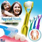 4-PK DenTrust  Child-Safe Special Needs 3-Sided Toothbrush  Sensory Autism USA