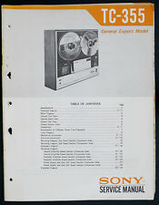 Sony tc-355 Original bandmschine/Stéréo TAPECORDER service-manual/Diagram o147