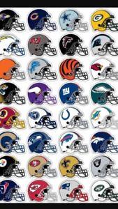 NFL TEAM HELMET STICKER,PICK YOUR FAVORITE FOOTBALL TEAM, 32 TEAMS FULL STOCK