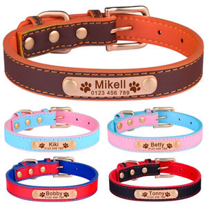 Personalised Boy Girl Dog Collar Puppy Cat Kitten Name Tag Engraved Adjustable