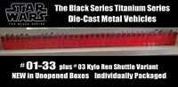 34 TOTAL SET Star Wars The Black Series Titanium Die-Cast Vehicles