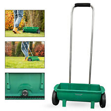 More details for 12l fertiliser spreader grass garden lawn soil seed diy spreading salt grit feed