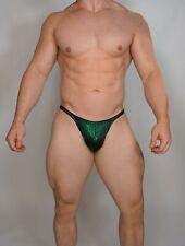 MEN'S GREEN POSING TRUNKS BODYBUILDER Muscle $60.00 MEDIUM