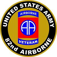UNITED STATES Army Veteran 82nd Airborne Decal Window Bumper Sticker