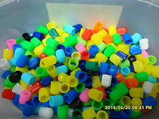120 x Assorted Coloured Plastic Valve Dust Cap for Car,BikesTractor,ATV etc